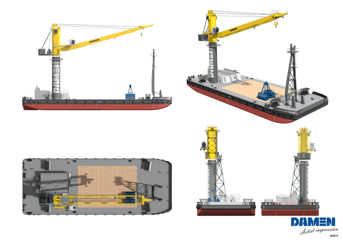 Damen orders 110th crane from Liebherr - Drydock Magazine