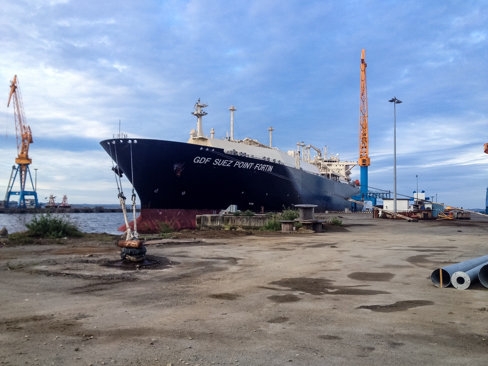 great damen shiprepair brest completes maintenance on lng carrier gdf suez point fortin with gdf. Black Bedroom Furniture Sets. Home Design Ideas